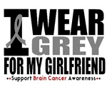 I Wear Grey Girlfriend Brain Cancer Shirts & Gifts