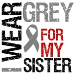 I Wear Grey (Sister) Brain Cancer T-Shirts