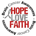 Brain Cancer Hope Love Faith Shirts & Gifts