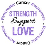 Pancreatic Cancer Strength Support Love Shirts & G