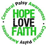 Cerebral Palsy Hope Love Faith Shirts & Gifts