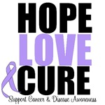 Hope Love Cure Cancer & Disease Shirts & Gifts