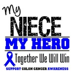 Colon Cancer Hero Niece Shirts & Gifts