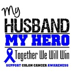 Colon Cancer Hero Husband Shirts & Gifts