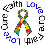Autism Faith Love Cure Awareness Shirts & Gifts