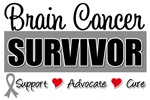 Brain Cancer Survivor Tee Shirts & Gifts