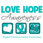 Love Hope Awareness Ovarian Cancer Gifts