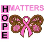 Hope Matters Paisley Butterfly Breast Cancer Shirt
