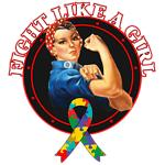 Fight Like a Girl Autism Shirts and Merchandise