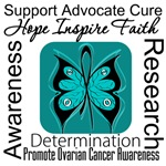 Ovarian Cancer Hope Inspire Faith Tees & Gifts