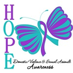 Domestic Violence Sexual Assault Butterfly Ribbon