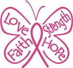 Butterfly Hope Breast Cancer Shirts