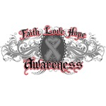 Brain Cancer Faith Love Hope Shirts