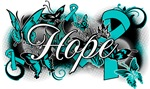 Ovarian Cancer Hope Garden Ribbon Shirts