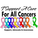 I Support A Cure Cancer Ribbons Shirts