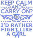 Stomach Cancer Keep Calm & Fight Like A Girl Tees