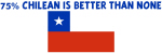 75 PERCENT CHILEAN IS BETTER THAN NONE