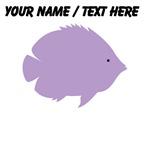 Custom Purple Tropical Fish