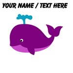 Custom Purple Cartoon Whale