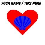 Custom Blue Oyster Heart