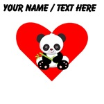 Custom Panda With Bamboo Heart
