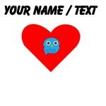 Custom Light Blue Owl Heart