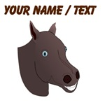Custom Brown Horse Face