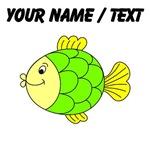 Custom Green Tropical Fish