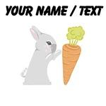Custom Grey Bunny With Carrot