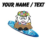 Custom Hula Cow Surfer