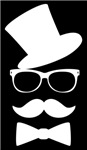 Funny Mustache Face With Top Hat