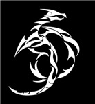 White Abstract Dragon