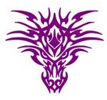 Purple Tattoo Dragon Face