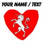 Custom Unicorn Statue Heart