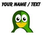 Custom Green Penguin