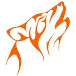 Orange Howling Coyote