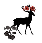 Buck With Flowers