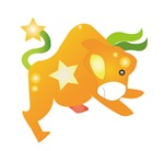 Orange Cartoon Bull