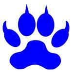 Blue Wolf Paw Print