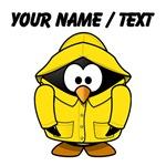 Custom Rain Coat Penguin