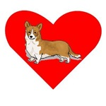 Pembroke Welsh Corgi Heart