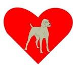 Weimaraner Heart