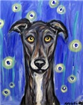 Portrait of a greyhound