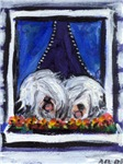 OLD ENGLISH SHEEPDOG WINDOW