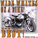 WIDE WHITES on a BIKE