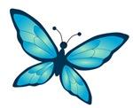 Blue Tones Butterfly