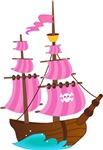 Pink Pirate Ship