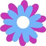 Purple Blue Flower