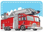 Red Fire Truck or Fire Engine