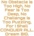 Conquer All Dream BIG Design